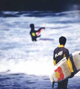 銚子ビーチのサーフィン